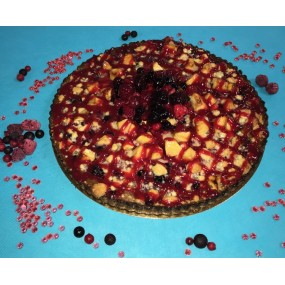 Tarte Crumble Pomme-Fruits rouges