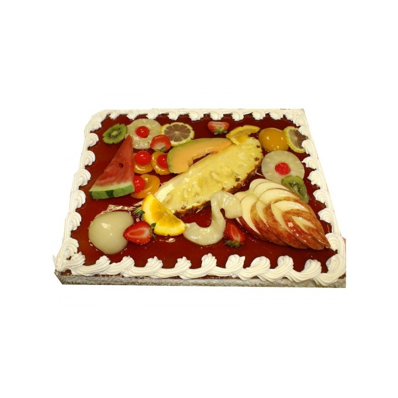 G teau photo avec d cor aux fruits aux d lices parisiens - Decoration de gateau avec des fruits ...